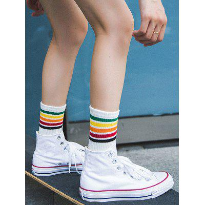 Colorful Striped Pattern Tube Socks