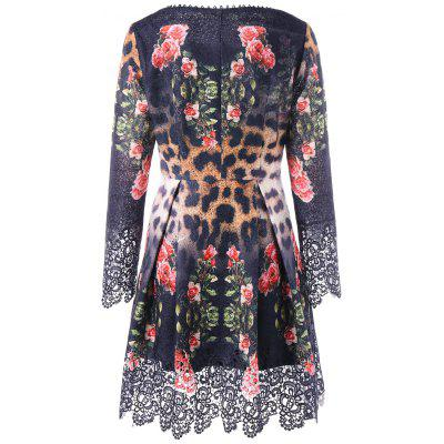 Lace Insert Floral Leopard Print Skater DressWomens Dresses<br>Lace Insert Floral Leopard Print Skater Dress<br><br>Dresses Length: Mini<br>Material: Polyester, Spandex<br>Neckline: Round Collar<br>Package Contents: 1 x Dress<br>Pattern Type: Leopard, Floral<br>Season: Fall, Spring<br>Silhouette: A-Line<br>Sleeve Length: Long Sleeves<br>Style: Brief<br>Weight: 0.4600kg<br>With Belt: No