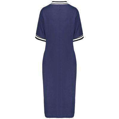 Plus Size Sheath Half Button Polo Tee DressPlus Size Dresses<br>Plus Size Sheath Half Button Polo Tee Dress<br><br>Dresses Length: Mid-Calf<br>Embellishment: Bowknot,Button<br>Material: Polyester<br>Neckline: Scoop Neck<br>Package Contents: 1 x Dress<br>Pattern Type: Striped<br>Season: Fall, Winter<br>Silhouette: Bodycon<br>Sleeve Length: Short Sleeves<br>Style: Cute<br>Weight: 0.4100kg<br>With Belt: No