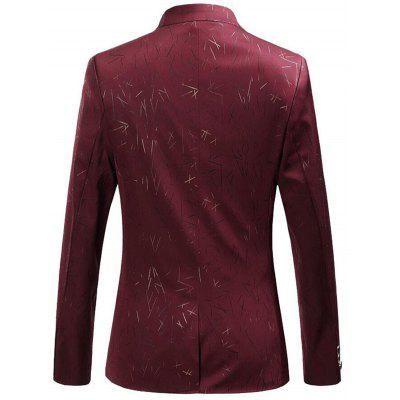 Single Breasted Collarless Printed BlazerMens Blazers<br>Single Breasted Collarless Printed Blazer<br><br>Closure Type: Single Breasted<br>Material: Polyester<br>Package Contents: 1 x Blazer<br>Shirt Length: Regular<br>Sleeve Length: Long Sleeves<br>Weight: 0.5700kg