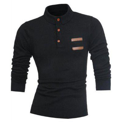 Long Sleeve Half Button Polo SweaterMens Sweaters &amp; Cardigans<br>Long Sleeve Half Button Polo Sweater<br><br>Collar: Turn-down Collar<br>Material: Cotton, Polyester, Rayon<br>Package Contents: 1 x Sweater<br>Sleeve Length: Full<br>Style: Casual<br>Type: Pullovers<br>Weight: 0.5500kg