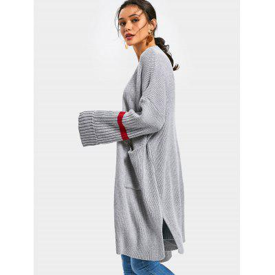 Side Slit Pockets Open Front CardiganSweaters &amp; Cardigans<br>Side Slit Pockets Open Front Cardigan<br><br>Collar: Collarless<br>Material: Polyester<br>Package Contents: 1 x Cardigan<br>Sleeve Length: Full<br>Style: Casual<br>Type: Cardigans<br>Weight: 0.8400kg