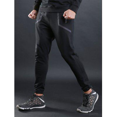 Contrast-trimmed Sports Jogger Athletic PantsSport Clothing<br>Contrast-trimmed Sports Jogger Athletic Pants<br><br>Elasticity: Elastic<br>Material: Cotton, Polyester, Spandex<br>Package Contents: 1 x Athletic Pants<br>Pattern Type: Patchwork<br>Type: Pants<br>Weight: 0.4100kg