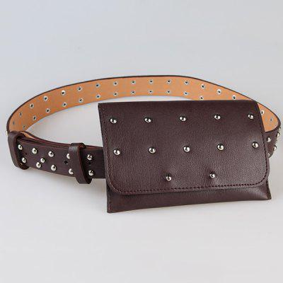 Mini Rivet Bag Decorated Faux Leather Waist BeltWomens Belts<br>Mini Rivet Bag Decorated Faux Leather Waist Belt<br><br>Belt Length: 97CM<br>Belt Material: Faux Leather<br>Belt Silhouette: Waist Belt<br>Belt Width: 2.7CM<br>Gender: For Women<br>Group: Adult<br>Package Contents: 1 x Belt<br>Pattern Type: Others<br>Style: Fashion<br>Weight: 0.1520kg