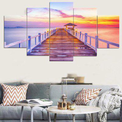 Rosy Clouds Print Unframed Canvas Paintings