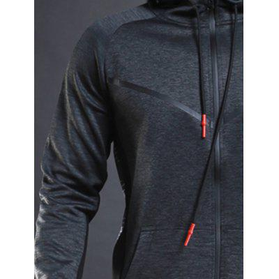 Casual Athletic Sports Hooded JacketSport Clothing<br>Casual Athletic Sports Hooded Jacket<br><br>Material: Polyester, Spandex<br>Package Contents: 1 x Jacket<br>Pattern Type: Patchwork<br>Type: Jacket<br>Weight: 0.6250kg