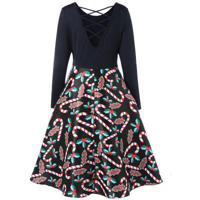 Christmas Criss Cross Graphic Swing DressWomens Dresses<br>Christmas Criss Cross Graphic Swing Dress<br><br>Dresses Length: Knee-Length<br>Material: Polyester, Spandex<br>Neckline: Round Collar<br>Package Contents: 1 x Top<br>Pattern Type: Others<br>Season: Spring, Fall<br>Silhouette: A-Line<br>Sleeve Length: Long Sleeves<br>Style: Brief<br>Weight: 0.4200kg<br>With Belt: No