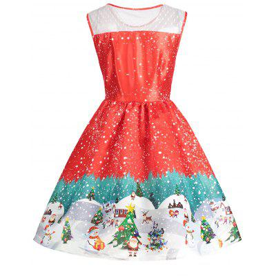 Christmas Print Sleeveless Vintage DressWomens Dresses<br>Christmas Print Sleeveless Vintage Dress<br><br>Dresses Length: Mid-Calf<br>Material: Polyester<br>Neckline: Round Collar<br>Package Contents: 1 x Dress<br>Pattern Type: Print<br>Season: Fall, Spring, Summer<br>Silhouette: A-Line<br>Sleeve Length: Sleeveless<br>Style: Vintage<br>Weight: 0.3500kg<br>With Belt: No