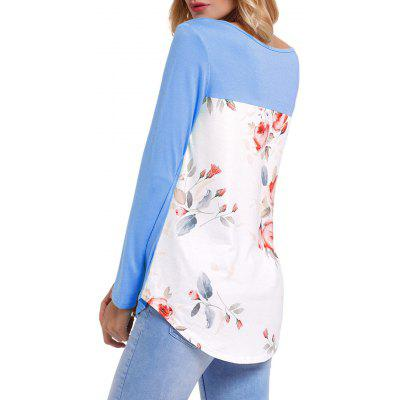 Floral Insert Front Cross Long Sleeve TopBlouses<br>Floral Insert Front Cross Long Sleeve Top<br><br>Collar: Scoop Neck<br>Embellishment: Criss-Cross<br>Material: Polyester, Spandex<br>Package Contents: 1 x Top<br>Pattern Type: Floral<br>Season: Fall, Spring<br>Shirt Length: Regular<br>Sleeve Length: Full<br>Style: Fashion<br>Weight: 0.3000kg