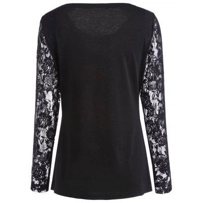 Ugly Christmas Lace Sleeve TopBlouses<br>Ugly Christmas Lace Sleeve Top<br><br>Collar: Round Neck<br>Material: Spandex<br>Package Contents: 1 x Top<br>Pattern Type: Others<br>Season: Fall, Spring<br>Shirt Length: Regular<br>Sleeve Length: Full<br>Style: Novelty<br>Weight: 0.2700kg