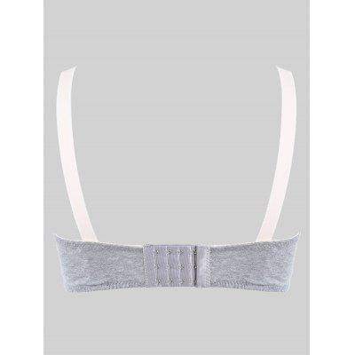 Lace Trim Surplice BraLingerie &amp; Shapewear<br>Lace Trim Surplice Bra<br><br>Bra Style: Plunge<br>Closure Style: Four Hook-and-eye<br>Cup Shape: Three Quarters(3/4 Cup)<br>Embellishment: None<br>Materials: Nylon, Spandex<br>Package Contents: 1 x Bra<br>Pattern Type: Others<br>Strap Type: Adjusted-straps<br>Style: Everyday<br>Support Type: Wire Free<br>Weight: 0.0850kg