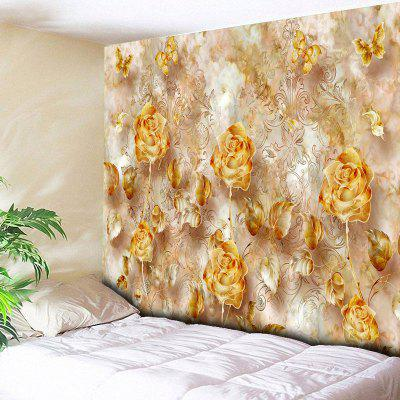 Rose Print Wall Hanging Flower Tapestry