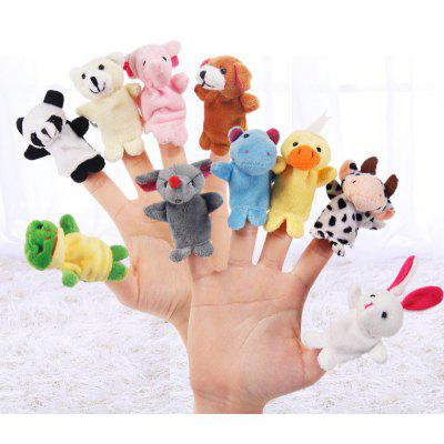 10 Pcs Finger Toys Baby Educational Animals Finger Puppets