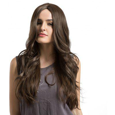 Middle Part Long Layered Wavy Synthetic Wig