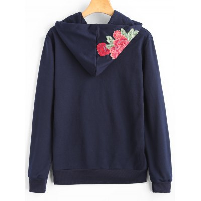 Flower Appliques Drawstring HoodieSweatshirts &amp; Hoodies<br>Flower Appliques Drawstring Hoodie<br><br>Clothing Style: Hoodie<br>Material: Polyester<br>Package Contents: 1 x Hoodie<br>Pattern Style: Floral<br>Shirt Length: Regular<br>Sleeve Length: Full<br>Weight: 0.4100kg