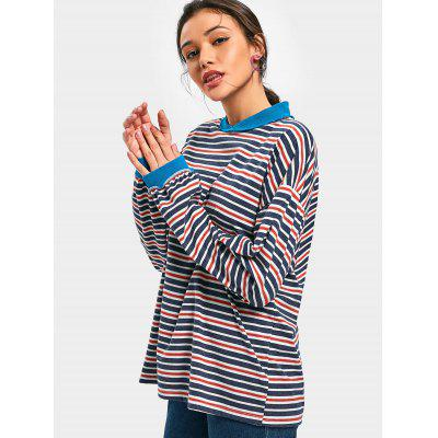 Drop Shoulder Striped Long SweatshirtSweatshirts &amp; Hoodies<br>Drop Shoulder Striped Long Sweatshirt<br><br>Clothing Style: Sweatshirt<br>Material: Polyester<br>Package Contents: 1 x Sweatshirt<br>Pattern Style: Striped<br>Shirt Length: Long<br>Sleeve Length: Full<br>Weight: 0.3750kg