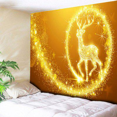 Wall Hanging Christmas Elk Print Decorative Tapestry