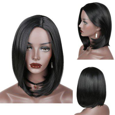 Side Parting Short Straight Bob Synthetic Wig