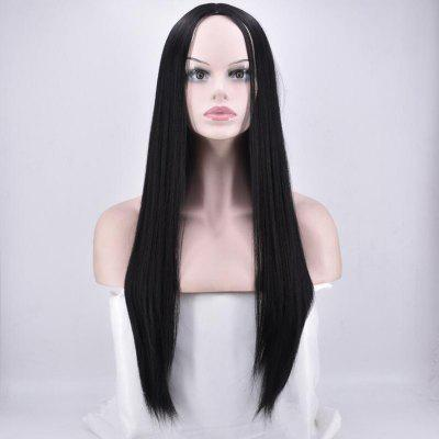 Center Parting Long Straight Synthetic Wig