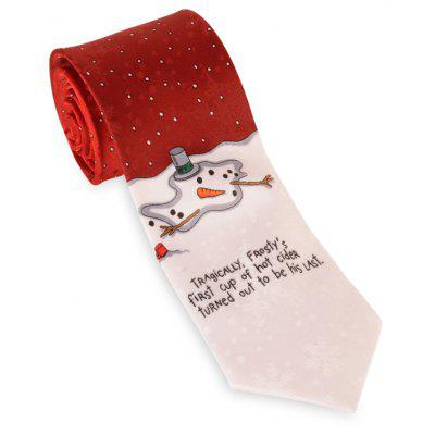 8CM Width Letter Printed Christmas Necktie