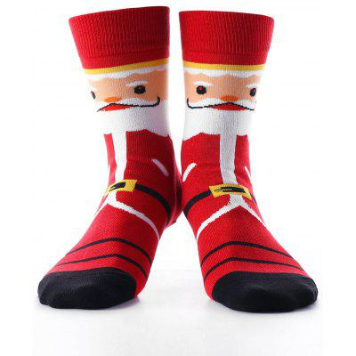 Father Christmas Pattern Ankle Socks