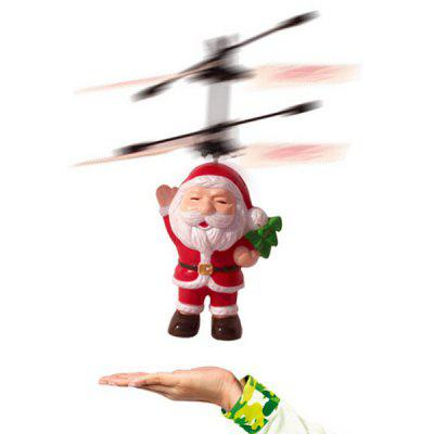 Electric Infrared Sensor Santa Claus LED Light Aircraft Toy