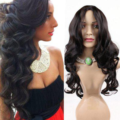 Long Center Parting Shaggy Wavy Synthetic Wig
