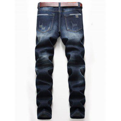 Zip Fly Whisker Pattern Distressed Jeans pepe jeans pm503594 203