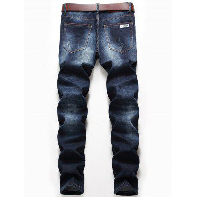Distressed Zip Fly Straight Jeans pepe jeans pm701294 551