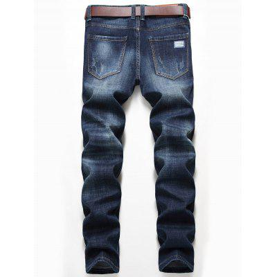 Whisker Pattern Distressed Faded Jeans pepe jeans pm503594 203
