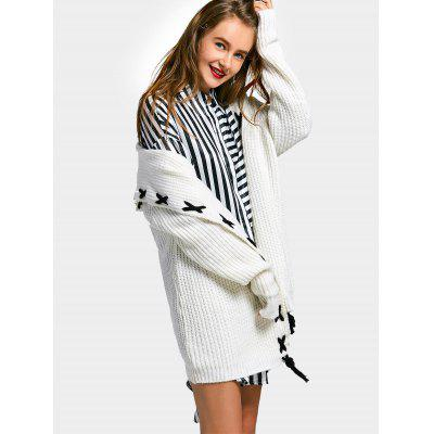 Longline Lace Up Hooded CardiganSweaters &amp; Cardigans<br>Longline Lace Up Hooded Cardigan<br><br>Collar: Hooded<br>Material: Polyester<br>Package Contents: 1 x Cardigan<br>Sleeve Length: Full<br>Style: Casual<br>Type: Cardigans<br>Weight: 0.7200kg