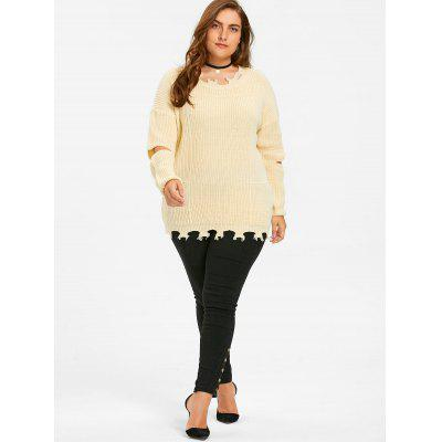 Elbow Cut Out Plus Size SweaterPlus Size<br>Elbow Cut Out Plus Size Sweater<br><br>Collar: Crew Neck<br>Material: Polyester, Spandex<br>Package Contents: 1 x Sweater<br>Pattern Type: Solid<br>Season: Fall, Winter<br>Sleeve Length: Full<br>Style: Fashion<br>Type: Pullovers<br>Weight: 0.5000kg
