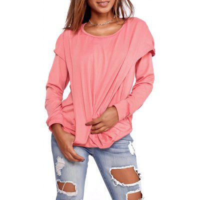 Faux Two Piece Long Sleeve Hooded TopBlouses<br>Faux Two Piece Long Sleeve Hooded Top<br><br>Collar: Hooded<br>Material: Polyester<br>Package Contents: 1 x Top<br>Pattern Type: Solid Color<br>Season: Fall, Spring<br>Shirt Length: Regular<br>Sleeve Length: Full<br>Style: Casual<br>Weight: 0.3700kg
