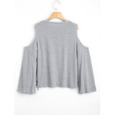 Bowknot Cold Shoulder T-shirtTees<br>Bowknot Cold Shoulder T-shirt<br><br>Collar: Round Neck<br>Embellishment: Bowknot<br>Material: Polyester<br>Package Contents: 1 x T-shirt<br>Pattern Type: Solid Color<br>Seasons: Spring/Fall<br>Shirt Length: Regular<br>Sleeve Length: Full<br>Sleeve Type: Cold Shoulder<br>Style: Casual<br>Weight: 0.2700kg
