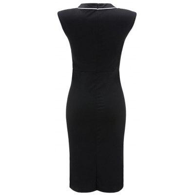 Button Embellished Two Tone Bodycon DressBodycon Dresses<br>Button Embellished Two Tone Bodycon Dress<br><br>Dresses Length: Mid-Calf<br>Embellishment: Button<br>Material: Polyester, Spandex<br>Neckline: Round Collar<br>Package Contents: 1 x Dress<br>Pattern Type: Others<br>Season: Fall, Spring<br>Silhouette: Bodycon<br>Sleeve Length: Sleeveless<br>Style: Vintage<br>Weight: 0.3500kg<br>With Belt: No