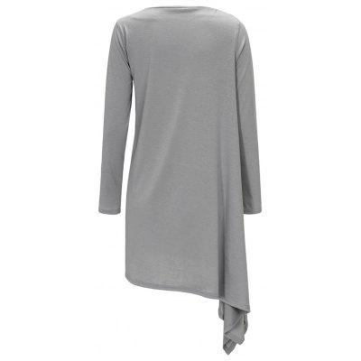 Boat Neck Long Sleeve Asymmetric DressWomens Dresses<br>Boat Neck Long Sleeve Asymmetric Dress<br><br>Dresses Length: Mini<br>Material: Polyester<br>Neckline: Boat Neck<br>Occasion: Casual<br>Package Contents: 1 x Dress<br>Pattern Type: Solid Color<br>Season: Fall, Spring<br>Silhouette: Asymmetrical<br>Sleeve Length: Long Sleeves<br>Style: Casual<br>Weight: 0.4200kg<br>With Belt: No