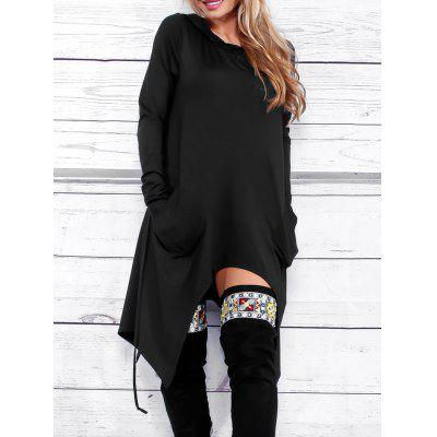 Front Pockets Asymmetric HoodieSweatshirts &amp; Hoodies<br>Front Pockets Asymmetric Hoodie<br><br>Embellishment: Front Pocket<br>Material: Polyester, Spandex<br>Package Contents: 1 x Hoodie<br>Pattern Style: Solid<br>Season: Fall, Spring<br>Shirt Length: Long<br>Sleeve Length: Full<br>Style: Casual<br>Weight: 0.4700kg