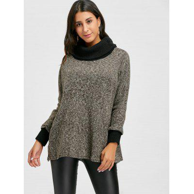 Loose Fit Heathered Turtleneck KnitwearSweaters &amp; Cardigans<br>Loose Fit Heathered Turtleneck Knitwear<br><br>Collar: Turtleneck<br>Material: Acrylic, Polyester<br>Package Contents: 1 x Knitwear<br>Pattern Type: Others<br>Season: Spring, Fall<br>Sleeve Length: Full<br>Style: Casual<br>Type: Pullovers<br>Weight: 0.6500kg