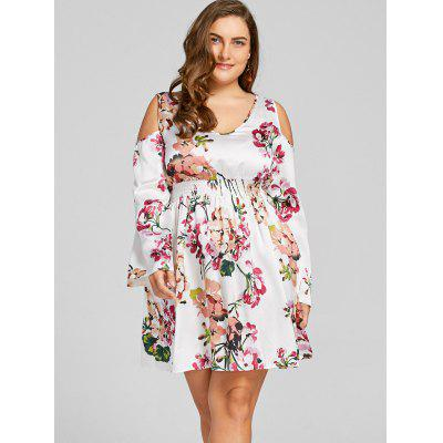 Plus Size Cold Shoulder Floral Print Mini DressPlus Size Dresses<br>Plus Size Cold Shoulder Floral Print Mini Dress<br><br>Dresses Length: Mini<br>Material: Polyester<br>Neckline: V-Neck<br>Package Contents: 1 x Dress<br>Pattern Type: Floral<br>Season: Fall, Spring<br>Silhouette: A-Line<br>Sleeve Length: Long Sleeves<br>Style: Brief<br>Weight: 0.2300kg<br>With Belt: No