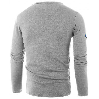 Crew Neck Graphic Embroidered Appliques T-shirtMens Long Sleeves Tees<br>Crew Neck Graphic Embroidered Appliques T-shirt<br><br>Collar: Crew Neck<br>Embellishment: Embroidery<br>Material: Cotton, Polyester<br>Package Contents: 1 x T-shirt<br>Pattern Type: Letter<br>Season: Fall, Winter<br>Sleeve Length: Full<br>Style: Fashion, Casual, Streetwear<br>Weight: 0.3700kg