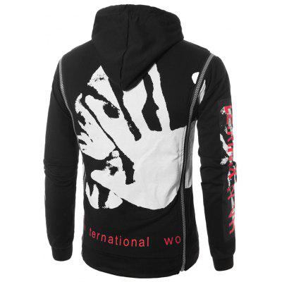 Hooded Zipper Design Figure Graphic Print Pullover HoodieMens Hoodies &amp; Sweatshirts<br>Hooded Zipper Design Figure Graphic Print Pullover Hoodie<br><br>Clothes Type: Hoodie<br>Material: Cotton, Polyester<br>Occasion: Going Out, Daily Use, Casual<br>Package Contents: 1 x Hoodie<br>Patterns: Letter,Print<br>Shirt Length: Regular<br>Sleeve Length: Full<br>Style: Fashion<br>Thickness: Regular<br>Weight: 0.4900kg
