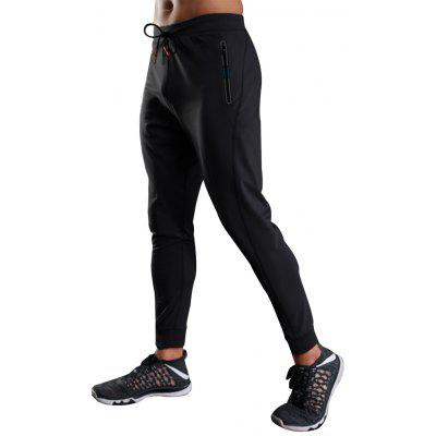 Zip Pockets Running Sports Jogger Athletic Pants