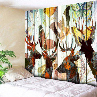 Buy COLORMIX Vintage Butterfly Elk Print Wall Tapestry for $14.81 in GearBest store