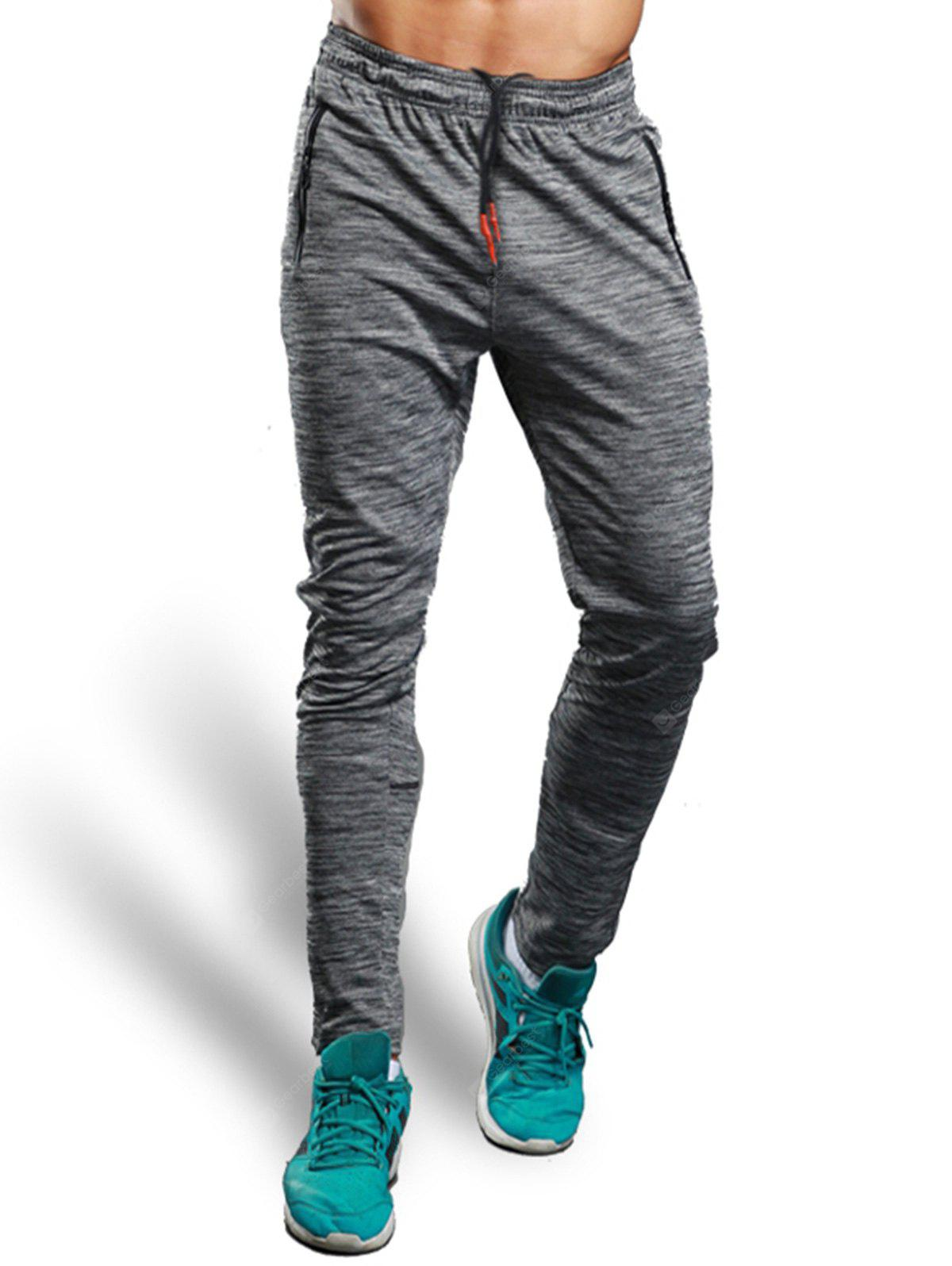 Zip Pocket Casual Straight Athletic Pants