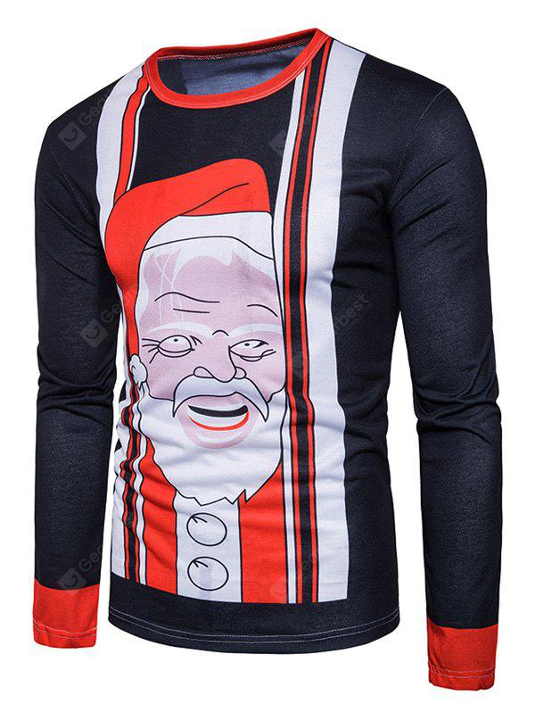 Collo Crew Natale Babbo Natale Stampa Ugly T-shirt