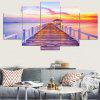 Rosy Clouds Print Unframed Canvas Paintings - COLORFUL