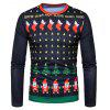 Collo Crew Stampa Father Christmas Stampa Ugly T-shirt - COLORI MISTI