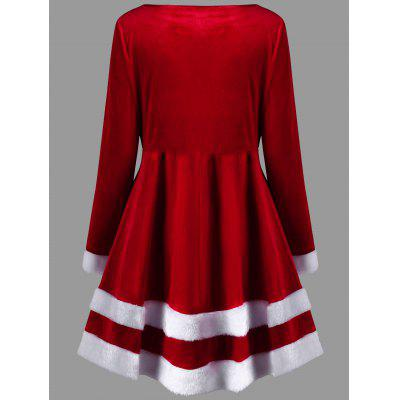 Christmas Plus Size Velvet Long Sleeve DressPlus Size Dresses<br>Christmas Plus Size Velvet Long Sleeve Dress<br><br>Dresses Length: Mini<br>Material: Polyester<br>Neckline: Round Collar<br>Package Contents: 1 x Dress<br>Pattern Type: Others<br>Season: Fall, Spring<br>Silhouette: A-Line<br>Sleeve Length: Long Sleeves<br>Style: Casual<br>Weight: 0.6150kg<br>With Belt: No