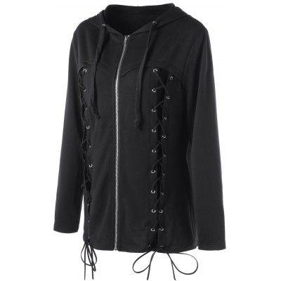 Halloween Plus Size Lace Up HoodiePlus Size Tops<br>Halloween Plus Size Lace Up Hoodie<br><br>Material: Polyester, Spandex<br>Package Contents: 1 x Hoodie<br>Pattern Style: Solid<br>Season: Fall, Spring<br>Shirt Length: Long<br>Sleeve Length: Full<br>Style: Casual<br>Weight: 0.5000kg