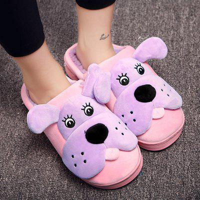 Cartoon Color Block SlippersSlippers &amp; Flip-Flops<br>Cartoon Color Block Slippers<br><br>Gender: For Women<br>Heel Type: Low Heel<br>Package Contents: 1 x Slippers (pair)<br>Pattern Type: Others<br>Season: Spring/Fall, Winter<br>Shoe Width: Medium(B/M)<br>Slipper Type: Indoor<br>Style: Leisure<br>Upper Material: Suede<br>Weight: 1.2000kg